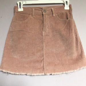 Mauve/pink velvet skirt